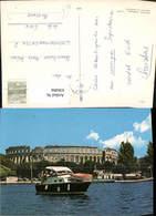 636494,Pula Amphitheater Boot I. Vordergrund Croatia - Kroatien