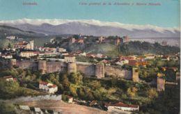 AK –Spanien -  GRANADA - Gesamtansicht Mit Der Alhambra Und Sierra Nevada 1912 - Granada