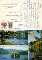 636580,Mehrbild Ak Bled Schwan Schloss Slovenia - Slowenien