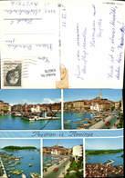 636578,Mehrbild Ak Rovinja Rovinj Küste Hafen Boote Croatia - Kroatien