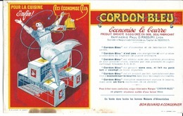 """Buvard Publicitaire """" Cordon Bleu"""" - Alimentaire"""