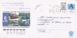 7380FM- TRAFFIC, TRUCK, BUSS, TRANSPORT, COVER STATIONERY, 2003, RUSSIA - Trucks
