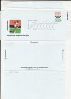 7381FM- 1980 OLYMPICS, SUMMER AND WINTER, ATHLETICS, SKI JUMP, AEROGRAMME, 1980, USA - Summer 1980: Moscow
