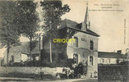 56 Arradon, Le Départ Des Facteurs Et Du Courrier, Bel Attelage - Arradon