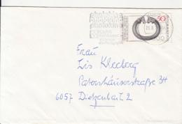 83014- KOLN PHOTOGRAPHY FAIR SPECIAL POSTMARK ON COVER, BRACELET STAMPS, 1976, GERMANY - Storia Postale