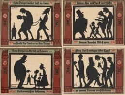 4 Billets De Nécessité Allemand 19212,  50 Pfennig Divers Dessins Satyriques Au Dos - [ 3] 1918-1933 : Repubblica  Di Weimar