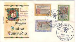 1972-Dante Alighieri Divina Commedia Su Fdc Illustrata - 6. 1946-.. Republic