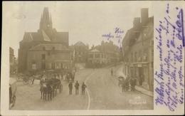Photo Cp Grandpré Ardennes, Une Rue, Eglise, Carrefour - Other Municipalities