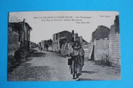 CPA Carte Postale Ancienne SOUAIN Sphahis Marocains Mars 1917 - Landkaarten