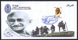 IRAQ 2019 150th Anniversary Of The Mahatma Gandhi India, FDC Refdc594 - Irak