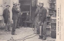 MEAUX POMPIERS G. RENARD A MEAUX APPLICATION DU TÉLÉPHONE AUX CASQUES RESPIRATOIRES ( Unique Sur Delcampe ) Pompier - Meaux