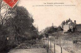 La Chaize Le Vicomte : Vue Prise Sur La Route De La Roche - La Chaize Le Vicomte