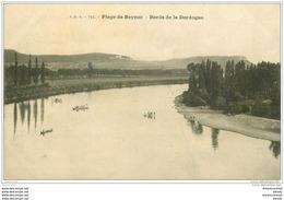 24 BEYNAC. Plage Et Barques Vers 1909 - Sonstige Gemeinden