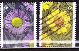 Kanada - Astern (Tetraneuris Herbacea) (MiNr: 3465/6) 2017 - Gest Used Obl - 1952-.... Règne D'Elizabeth II