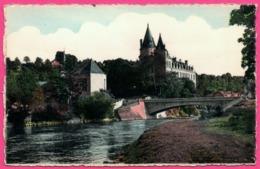 Cp Dentelée - Durbuy - Château Et Le Nouveau Pont Sur L'Ourthe - Edit. COSSE - Photo DESSART - Colorisée - Durbuy