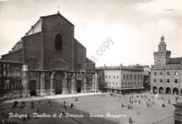 Cartolina Bologna Basilica S. Petronio Piazza Maggiore 1969 - Bologna