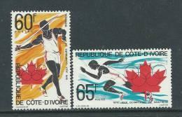 Côte D'Ivoire N° 406 / 07 XX  Jeux Olympiques De Montréal, La Paire Sans Charnière, TB - Costa De Marfil (1960-...)