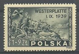 Poland 1945 Mi 407a Fi 374 MNH ( ZE4 PLD407a ) - Militaria