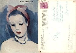 MARIE LAURENCIN PAINTING POSTCARD - Peintures & Tableaux