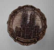 """Assiette Murale Vintage London """"Westminster Abbey"""" En Résine - Altre Collezioni"""