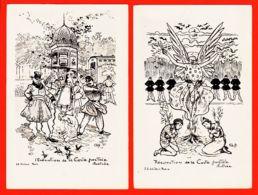 Tues031 Rare Lot 2 CPA EXECUTION + RESURECTION De La CARTE POSTALE ILLUSTREE Illustration G.Ft 1900s Editeur J.J - Künstlerkarten