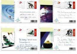 Belg. 2006 - Torino 2006 - 5 Cartes Postales Obl. - De 5 Postkaarten Gebr. (2 Scans) - Stamped Stationery