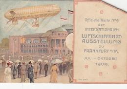 Int.Luftfahrtsausstellung Frankfurt - Klappkarte M Aufsteigendem Ballon B Oeffnen D Karte - 1909        (A-120-190415) - Riunioni