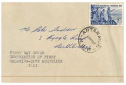 (DE 23) Australia FDC Cover - Premier Jour - 1963 - Blue Mountains Crossing 150th Anniversary (Artarmon) - Sobre Primer Día (FDC)