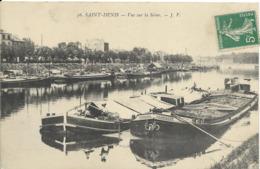 Cpa Saint Denis, Vue Sur La Seine, Péniches - Saint Denis