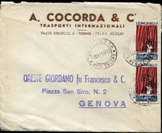 48336 Italia, Cover Circuled 1958 With 2 Stamps Of The Music Composer Leoncavallo, Pagliacci - Music