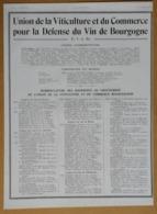1929 Union De La Viticulture Et Du Commerce Pour La Défense Du Vin De Bourgogne (U.V.C.B.) - Vins De Bourgogne-Publicité - Publicidad