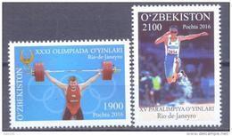 2016. Uzbekistan, Summer Olympic Games Rio De Janeyro, 2v,  Mint/** - Sommer 2016: Rio De Janeiro