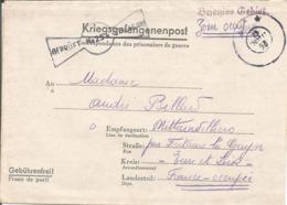 Formulaire Prisonnier De Guerre 1942 Franchise Postale Stalag XII B FRANKENTHAL + Censure Kriegsgefangenenpost - Marcophilie (Lettres)