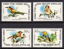CYPRUS (TURKEY) - 1983 PROTECTED BIRDS SET (4V) FINE MNH ** SG 140-143 - Cyprus (Turkey)