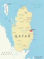 1 Map Of Qatar * 1 Ansichtskarte Mit Der Landkarte Vom Emirat Katar * - Landkaarten