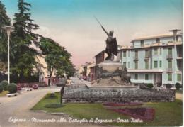 LEGNANO - MONUMENTO ALLA BATTAGLIA DI LEGNANO - CORSO ITALIA - CARTOLINA ACQUARELLATA - VIAGGIATA 1961 - Legnano