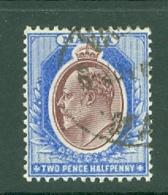 Malta: 1904/14   Edward   SG52    2½d   Maroon & Blue  Used - Malta (...-1964)