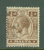 Malta: 1914/21   KGV   SG69    ¼d   Brown       Used - Malta (...-1964)