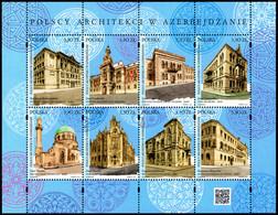 Poland 2019 Fi BLOK 332 Mi 5117-5124 Polish Architects In Azerbaijan - Nuevos