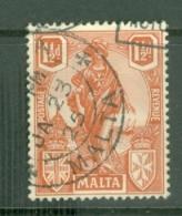 Malta: 1922/26   Emblem     SG127   1½d     Used - Malta (...-1964)
