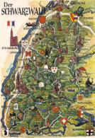 1 Map Of Germany * 1 Ansichtskarte Mit Der Landkarte Vom Schwarzwald * - Landkaarten