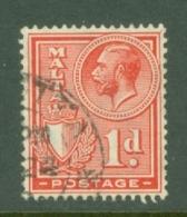 Malta: 1926/27   KGV (inscr. 'Postage')     SG159   1d     Used - Malta (...-1964)