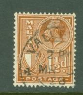 Malta: 1926/27   KGV (inscr. 'Postage')     SG160   1½d     Used - Malta (...-1964)