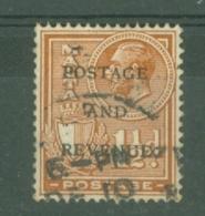 Malta: 1928   KGV 'Postage & Revenue' OVPT    SG178   1½d    Chestnut   Used - Malta (...-1964)