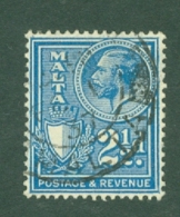 Malta: 1930   KGV (inscr. 'Postage & Revenue)   SG198   2½d     Used - Malta (...-1964)