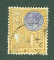Malta: 1930   KGV (inscr. 'Postage & Revenue)   SG201   4½d     Used - Malta (...-1964)