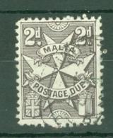 Malta: 1966   Postage Due  SG D27    2d  [Wmk: Block Crown CA] Used - Malta