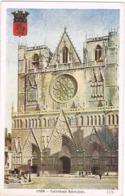 34303. Postal LYON (Rhone) Cathedrale St. JEAN - Lyon