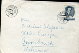 48339 Ceskoslovensko, Cover Circuled 1953 With Stamp Josef Slavik,  Violinist And Music Composer - Music