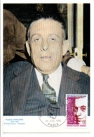CARTE MAXIMUM 1974 FRANCIS POULENC - 1970-79